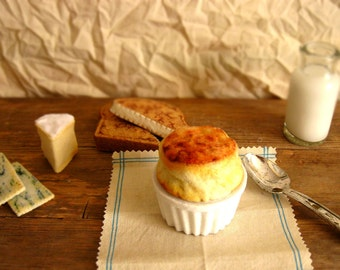 Felt Food Cheese Souffle Play Food or Pin Cushion