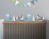 Nursery Wall Decal, Kids Wall Decal. Foxes Children Wall Decal