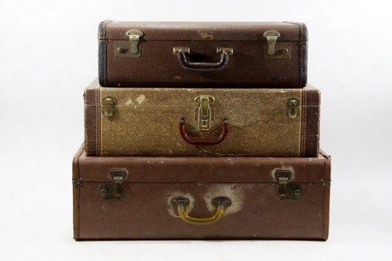 Vintage suitcase vintage stack of suitcases by - Vintage suitcase ...