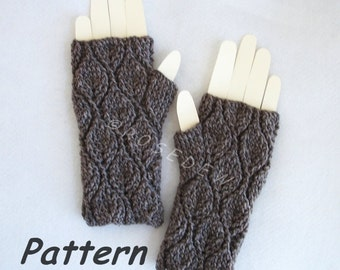 Instant Download to PDF CROCHET Pattern: Leafy Fingerless Mitts