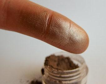 CUTTHROAT Brown Mineral Eyeshadow Silver Shimmer Natural Neutral Metallic