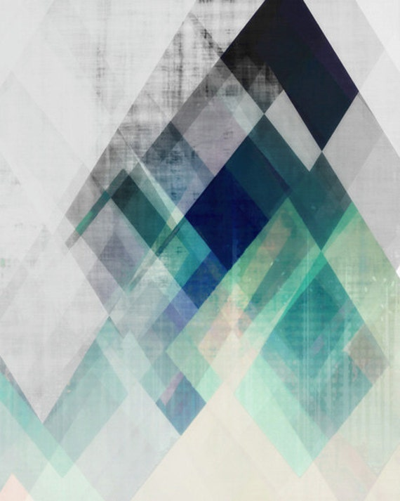 Modern Mid Century Graphic Art Neutral Colors Geometric