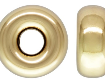 14Kt Gold Filled 3mm Roundel 1mm Hole - 20pcs (4448) 10% discounted Made in USA