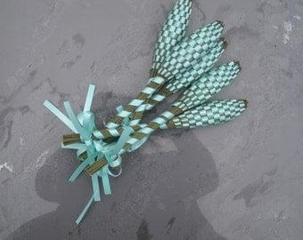 Lavender Wands - Aqua Blue Small