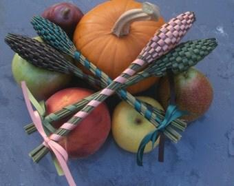 Lavender Wands - Fall Decor Quartet (4) Medium Size Assorted Colors