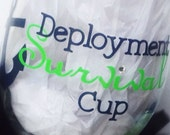 Deployment Wine Glass, navy, military, anchor