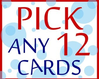 12 CARDS FOR 33 - Buyer's Choice - Pick Any 12 Cards from the Seas and Peas Shop