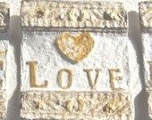 Wall Plaque, Biblical Art, Handmade Paper, Shabby Chic Decor, Spiritual Art Gift, Christmas art, Art Gift, Christian Christmas - ThresholdPaperArt