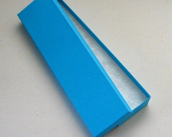 SALE 5 High Quality Matte Turquoise Blue Jewelry Boxes Bracelet Box Cotton Filled 8 x 2 x 7/8 inches