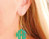 Monogram Acrylic Earrings -- Personalized -- Custom