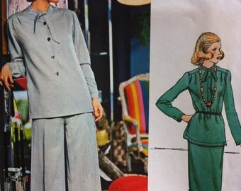 Vintage Vogue Couturier Design by Pertegaz Spain No. 1088 Pants Suit, Skirt, Top Pants Designer Yoke Pattern PERTAGAZ