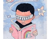Take A Look 8x10 print-A Star Trek/Reading Rainbow Parody- Free Domestic Shipping