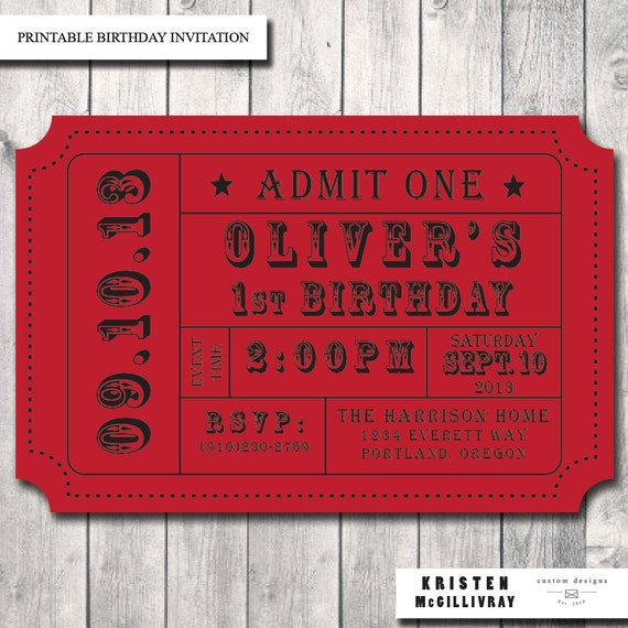 carnival ticket invitation admission ticket by