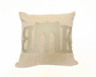 READY TO SHIP: Brooklyn Bridge Pillow Cover - Linen