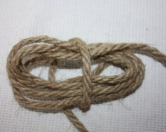 5 mm Jute Cord Natural = 11 Yards = 10 Meters of TWISTED CORD, Jute Rope, Natural Fiber Rope, Jute Cord Rope, Burlap String Cording