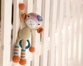 PATTERN - Monkey girl - crochet pattern, amigurumi pattern, PDF