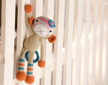 PATTERN - Monkey girl - crochet pattern, amigurumi pattern, PDF