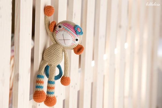 Amigurumi Tutorial Mono : PATTERN Monkey girl crochet pattern amigurumi pattern