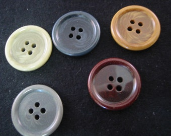 Brown  Buttons ( Camel) - Lot of 4 buttons - 3 sizes available choose size