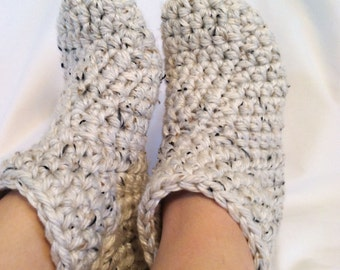 Socks Booties Crochet Adult Women for Size 7, 8, 9 Custom Washable Thick Soft Cozy