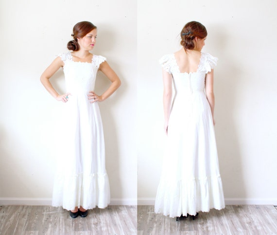 Chic Vintage Wedding Dresses : Vintage wedding dress shabby chic floral lace hippie