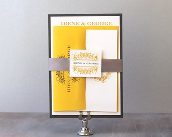 French Countryside - Wedding Invitations, Parisian-Inspired Wedding Invitation, Yellow, Pink & Peach - Purchase for a Sample