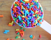 SALE Rainbow Sprinkles - 3oz Multi-Color Jimmies - Rainbow Cake Decorations