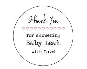 """CUSTOM 2"""" Shower Labels - Customizable -Personalized - Favor -KRAFT or WHITE -Brown Bag-  Kraft round/circle seals/Stickers/labels"""