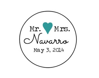 "Wedding Labels 1"" // IT'S OFFICIAL Mr & Mrs // Thank You // Personalized -Spring-summer- Kraft // White // Ivory // seals/Stickers/labels"