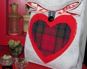 Valentines lunch Sack//Cloth lunch bag with Handle // Re-useable lunch sack // washable lunch bag