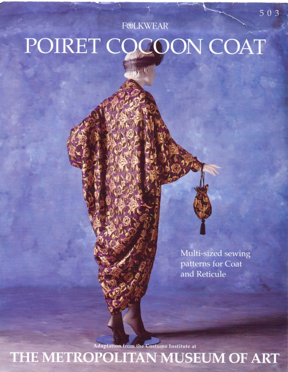 Folkwear Pattern 503 Poiret Cocoon Coat And Reticule Womens