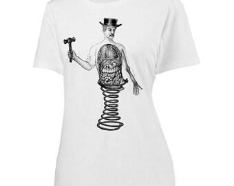 Womens Screen Printed Bizarre Anatomy Shirt
