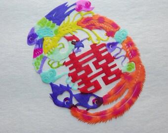 Set of 10 Jianzhi Vintage Chinese Folk Paper Cut Outs