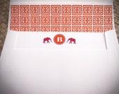 Personalized Stationery - Elephant Monogram