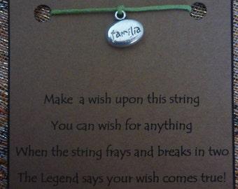 Familia WISH STRING Bracelet FAMILIA Family Cord Color Choice