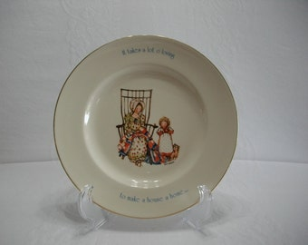 Holly Hobbie Freedom Series 1776-1976 Vintage Decorative Collectors Bicentennial Plate , Childrens Decor, Holly Hobbie Plate
