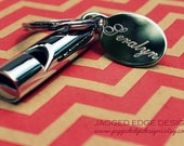 Custom Engraved Chrome-Plated Whistle Keychain - Engraving Included