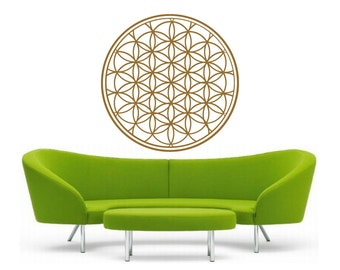 flower of life mandala vinyl Wall DECAL-seed Sacred geometry, sticker art, rainbow Holographic