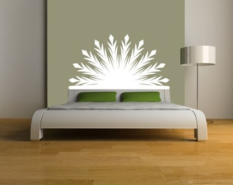 Radiant Headboard Vinyl Wall DECAL- BED- sticker art, room, home decor Twin Double Full Queen King
