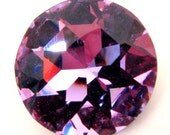 ALEXANDRITE - Large Color Changing Purple, Blue, & Aqua Round Chaton Rose Cut Shape Crystal - 28mm Jewelry Supplies