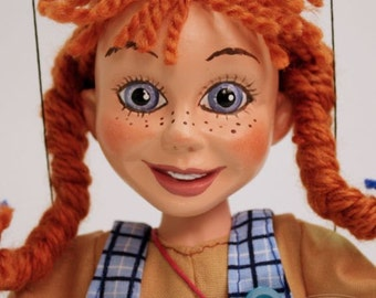 Marionette  Pippi Longstocking - Famous Fairy Tale Girl