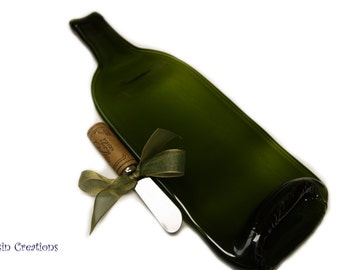 Wine Bottle Cheese Tray, Eco Friendly Spoon Rest, Barware, Hostess Gift,  Dessin Creations