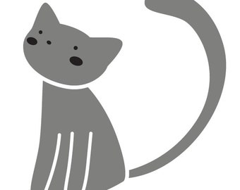 Cat Wall Stencil for Painting Kids or Baby Room Mural  (SKU295-istencil)