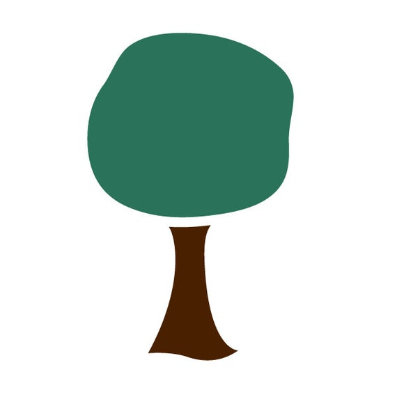 Baum wand schablone zum malen kinder oder baby zimmer wandbild for Baum wand
