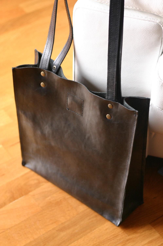 Handmade leather bag Leather tote bag Leather shoulder bag