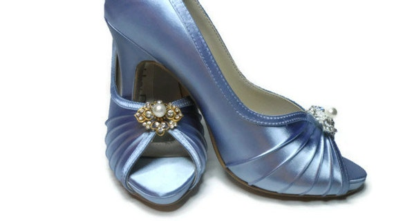 Blue Wedding Shoes Bridal Shoes Dyeable By Lambsandivydesigns