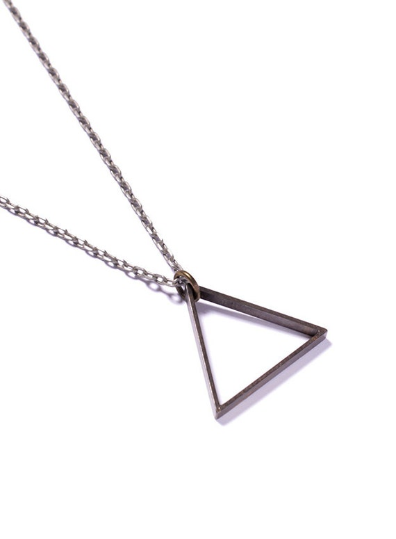 Birthday Gifts : Celebrity Inspired Gold Triangle Pendant ...