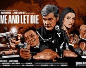 """James Bond 007 - Live and Let Die  - 17 x 11"""" Digital Print"""