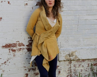 Ahimsa Leela Organic Cotton/Hemp and Flax Linen Wrap Jacket
