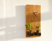 Oak Clock Wooden Wall Modern, geometric ready to ship, sale